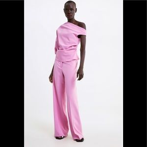 Zara Asymmetrical Pink Top